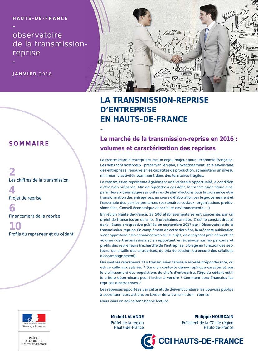 Observatoire transmission reprise 2017 page de couv