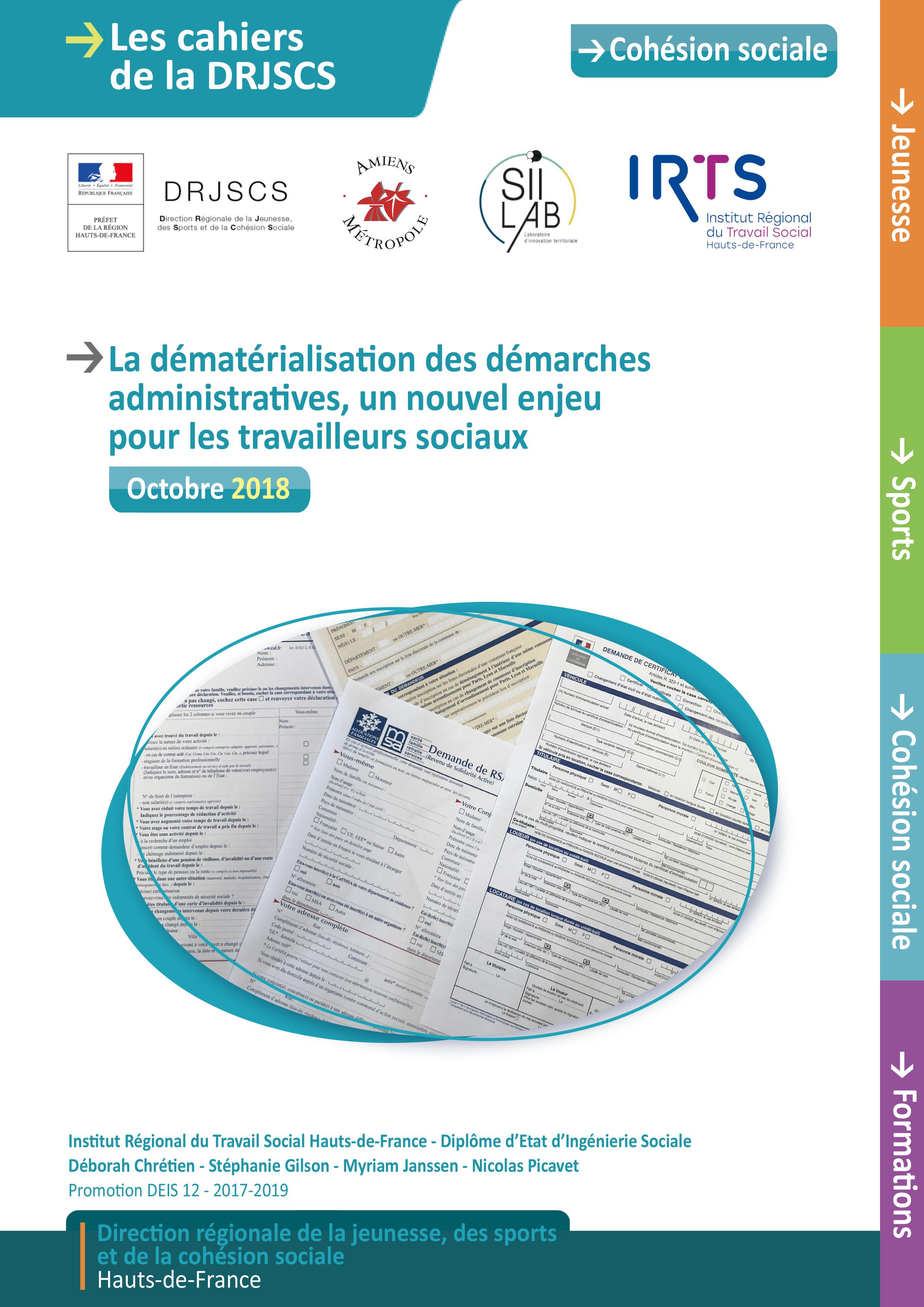 Cahiers DRJSCS couv dématérialisation