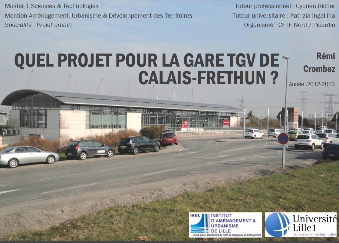 Etude gare - Calais - Frethun