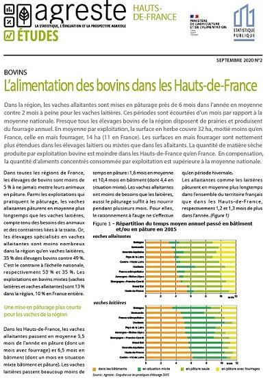 L'alimentation des bovins dans les Hauts-de-France