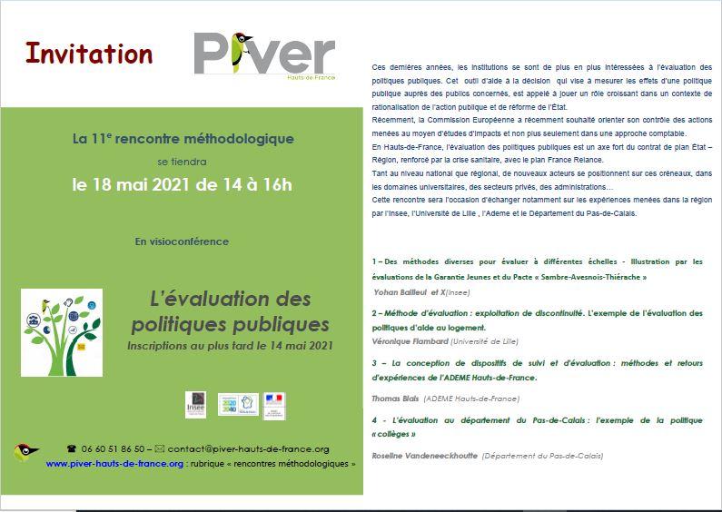 Invitation - evaluation des politiques publiques