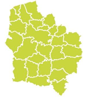 carte du Nord-Pas-de-Calais - Picardie